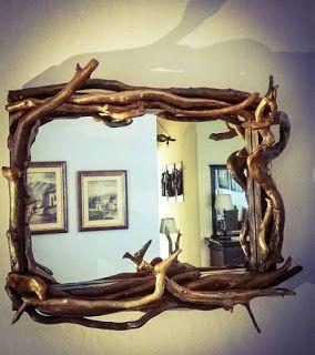 Ονειρώξεις επί.... ξύλου: Καθρέφτης με Θαλασσόξυλα