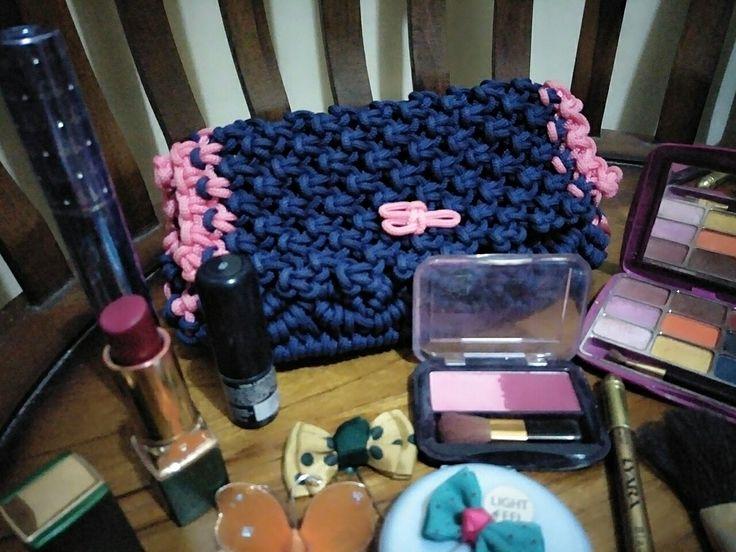Tas makeup macrame cantik