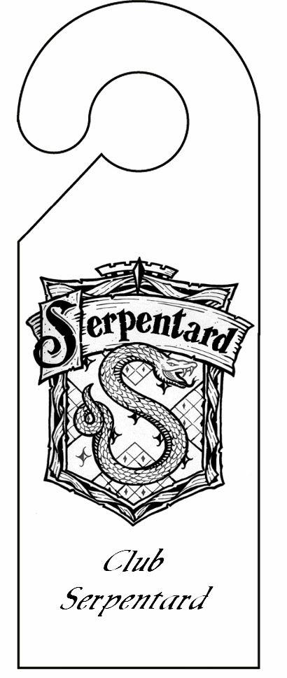 pancarte de porte serpentard découpage a imprimer