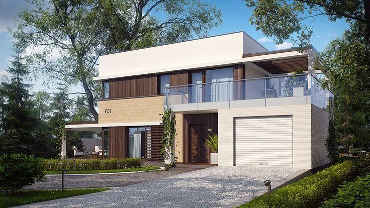 DOM.PL™ - Projekt domu SZ5 Zx63 CE - DOM OZ6-57 - gotowy projekt domu