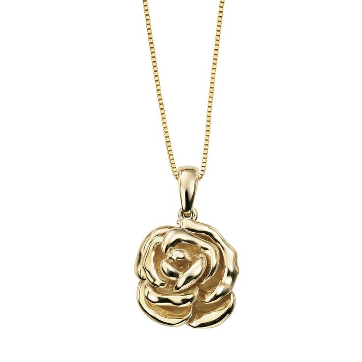 9ct Gold Rose Necklace - Havens