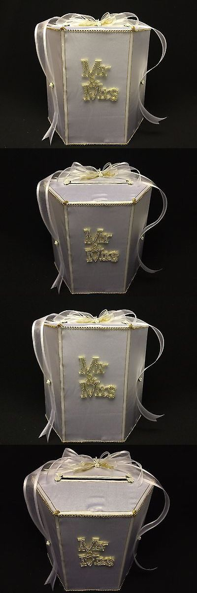 Card Boxes and Wishing Wells 168189: Wedding Money Gift Card Box, Mr. And Mrs., White And Gold, Ceremony -> BUY IT NOW ONLY: $69.99 on eBay!