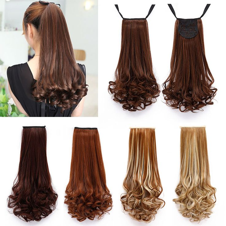 14/18/22inch Long Ponytails Extensions False Blond Pony Horse Hair Tail Fake Hair Ponytail Apply Hair Extension Clips Hairpiece