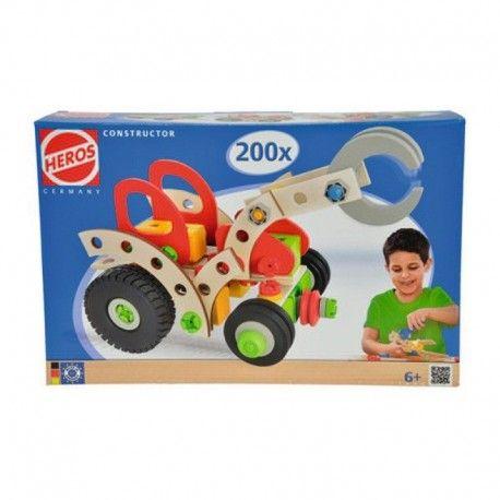 Klocki Heros 39043 - Traktor, Przyczepka, Kombajn oraz inne pojazdy podpowiedziane przez wyobraźnię:)  Drewniane Klocki Konstrukcyjne do skręcania.   Zestaw dla Dzieci od lat 6, zawiera aż 200 Drewnianych i Plastikowych części.  Sprawdźcie sami:)  http://www.niczchin.pl/drewniane-klocki-heros/3093-klocki-heros-39043-traktor.html  #klocki #heros #traktor #zabawki #niczchin #kraków