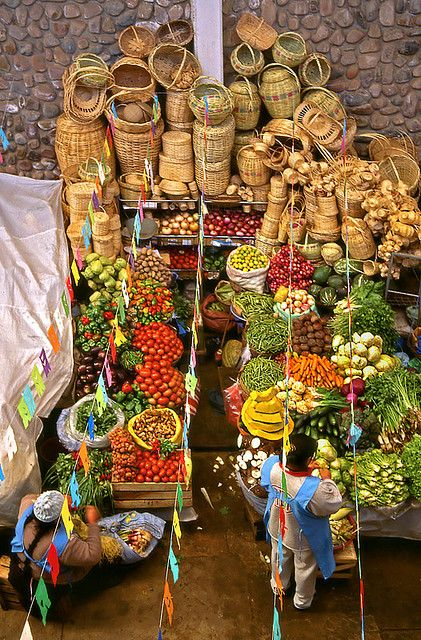 Sucre, Bolivia -- whenever I travel, taking pictures at markets are always a must.