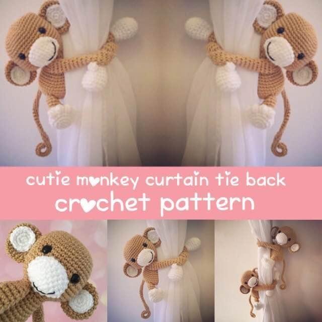 (4) Name: 'Crocheting : Monkey curtain tie back crochet pattern