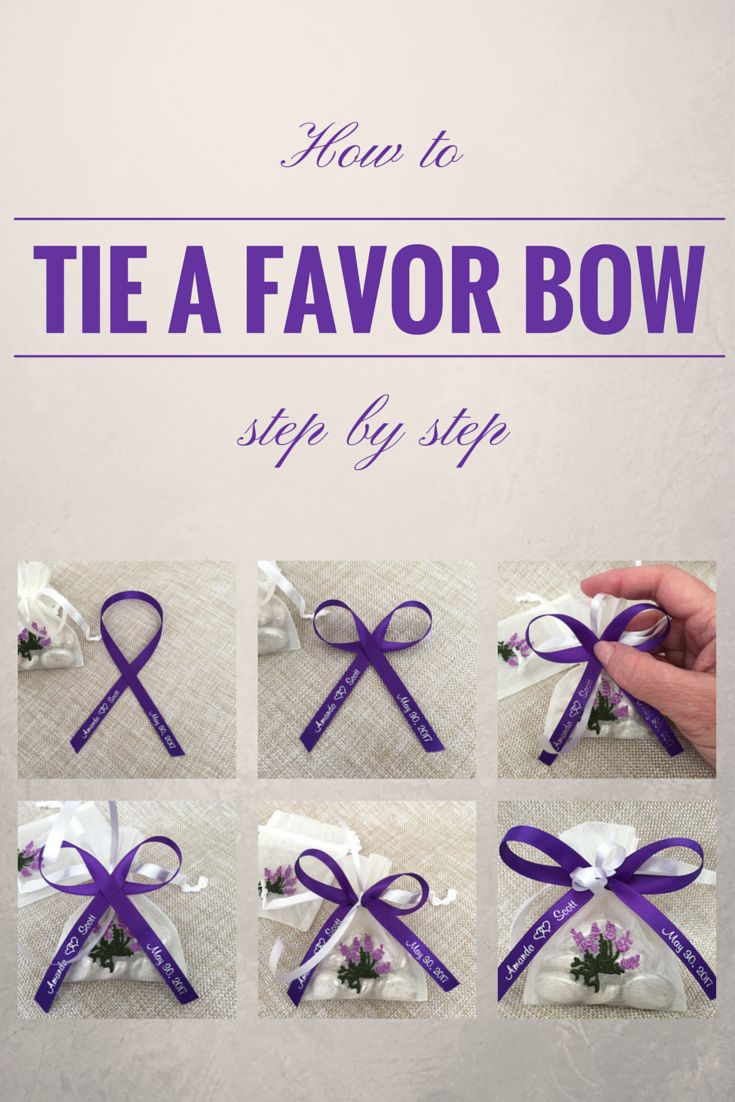How To Tie A Perfect Bow With Favor Ribbon Simple, Stepby