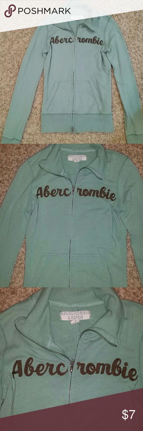 Abercrombie Green Zip Up Long Sleeve  Jacket Excellent Condition... Abercrombie & Fitch Green Zip Up Jacket Abercrombie & Fitch Jackets & Coats