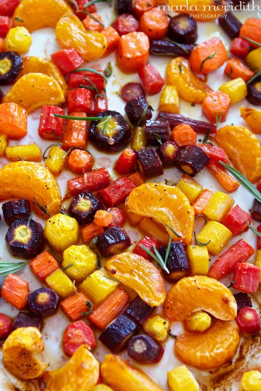 Mandarin Roasted Rainbow Carrots by familyfreshcooking.