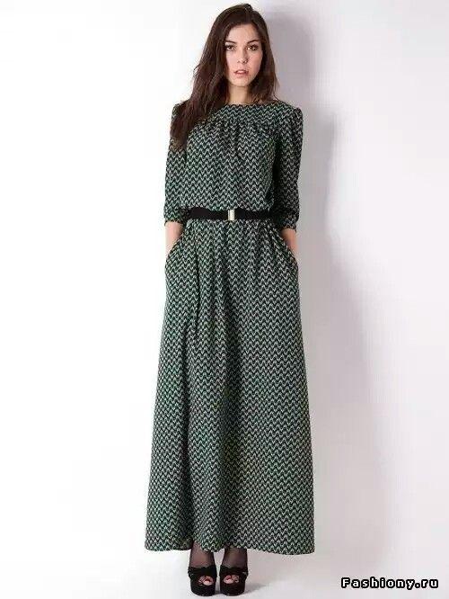 Макси, платье, рябь, на каждый день, лето,