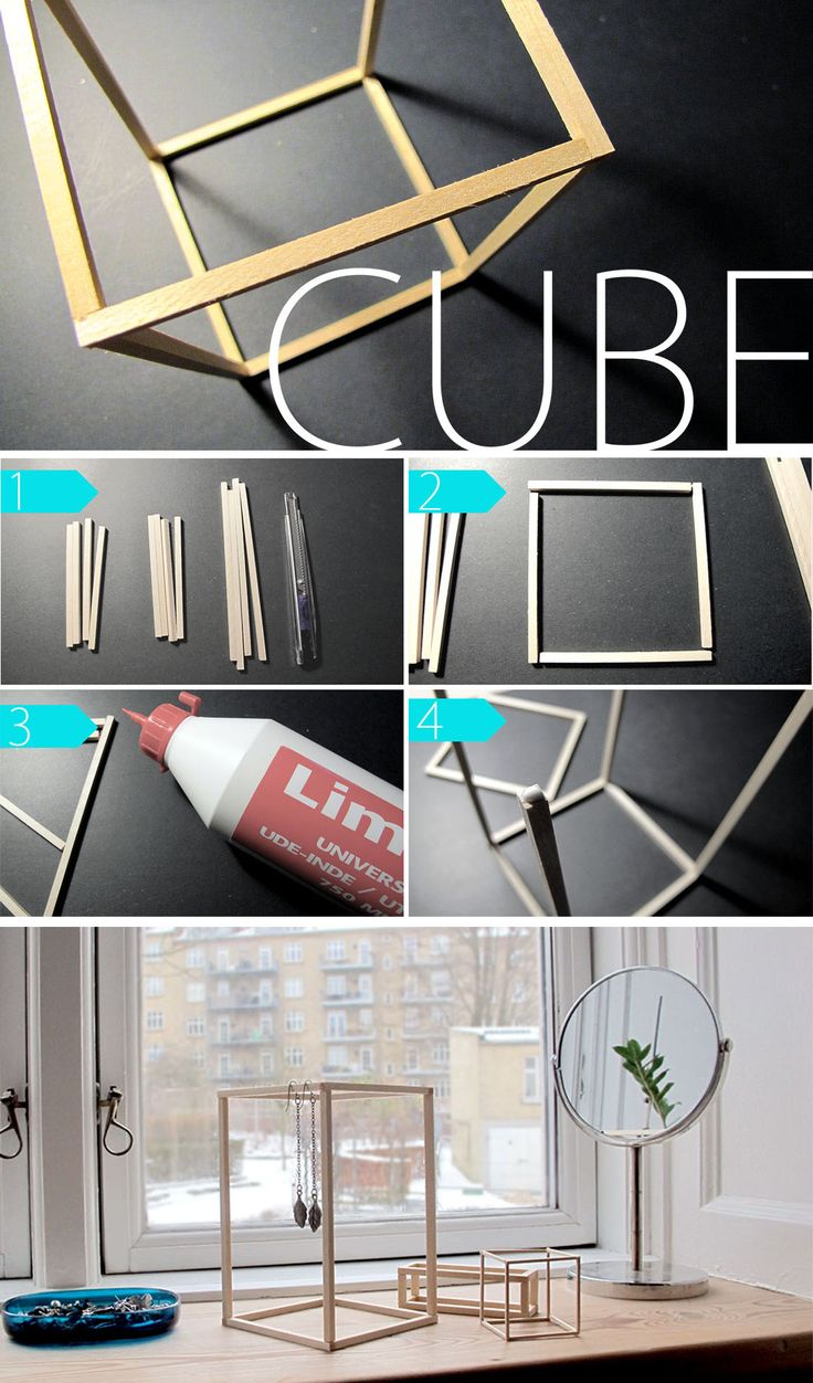 Jolie idée déco, cube à faire soi-même, support bijoux | DIY Make your own cubes.