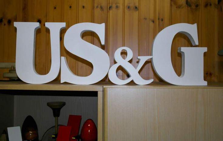 Lettere in legno di pino di grandi dimensioni (leggi) 6