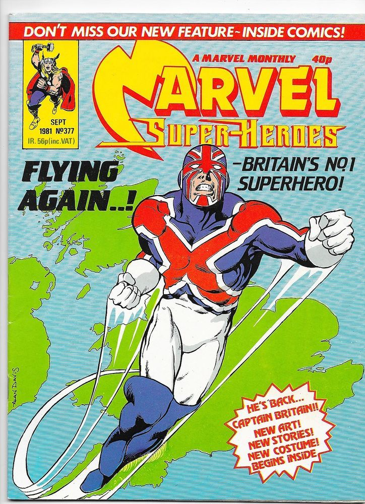 Marvel Super Heroes #377 Marvel Comics UK Captain Britain 1981 VF/NM
