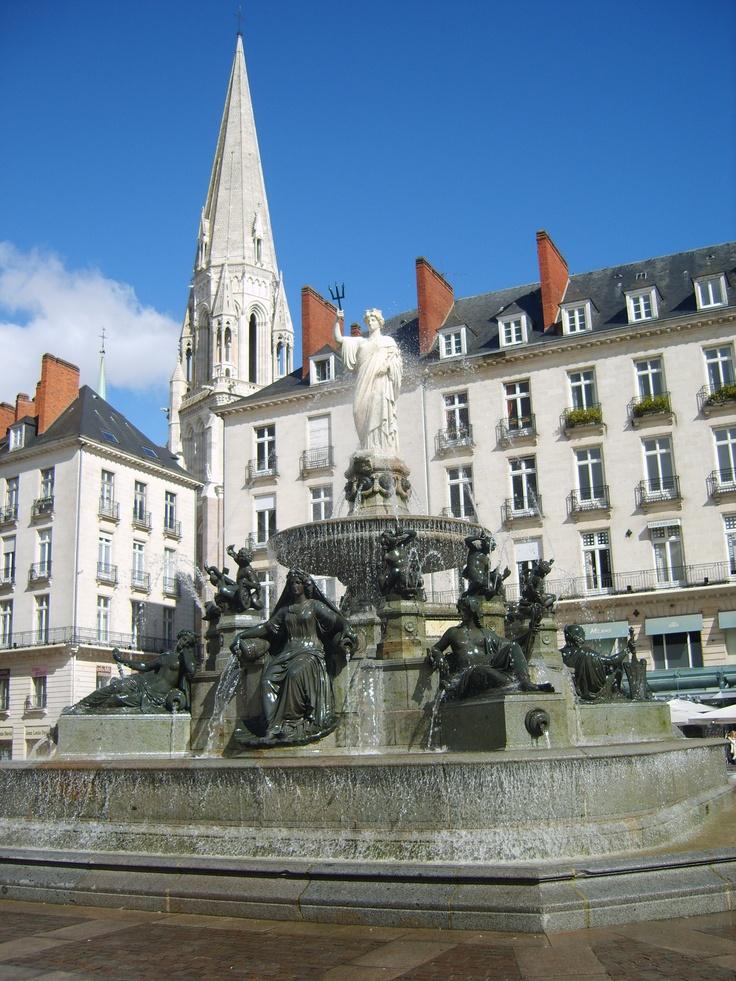 La Place Royale, au cœur de Nantes, conçue en 1788.