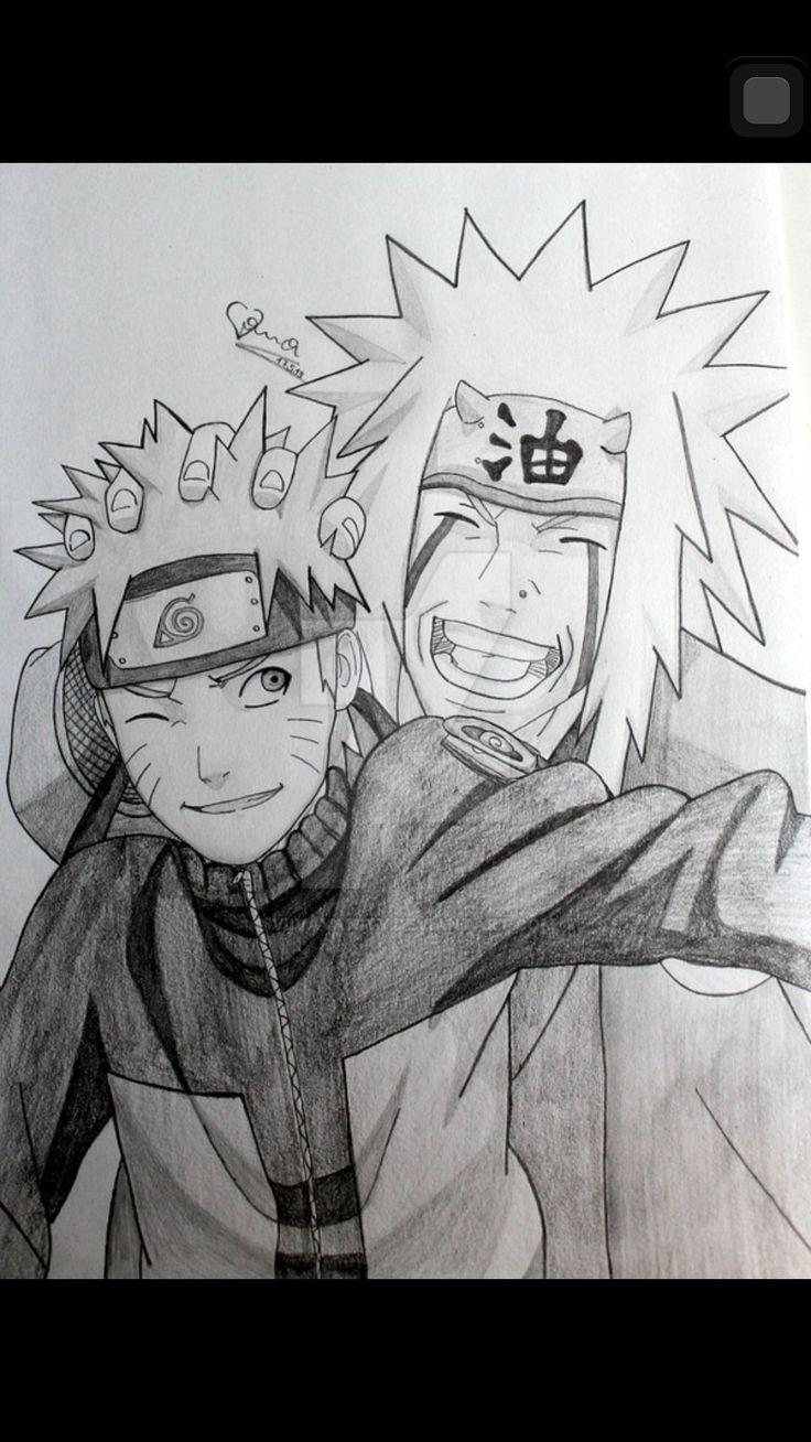 Naruto and Jiraiya drawing ♥