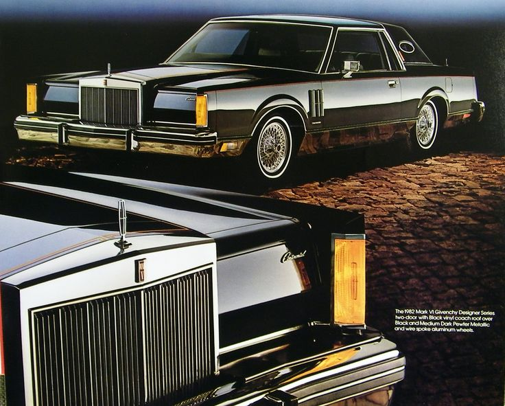 1982 lincoln continental mark vi coupe givenchy designer series
