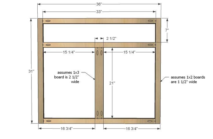 Ana White  Build a Kitchen Cabinet Sink Base 36 Full