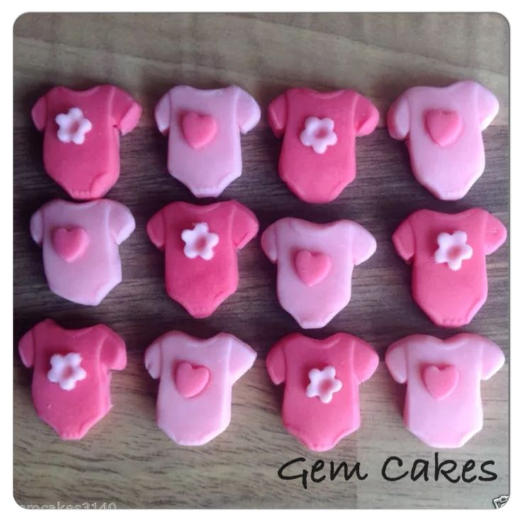 Edible baby Shower christening Pink Baby Vests cupcake toppers decorations for Girls