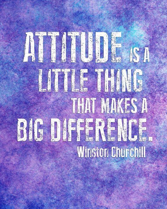 Attitude Inspirational Quote - Classroom Decor - 8x10 Watercolor Typography Print. $15.00, via Etsy.