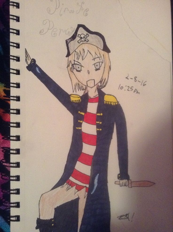 So I drew Pirate Percy from Candle Cove (creepypasta) by: @ilenniaaguirre