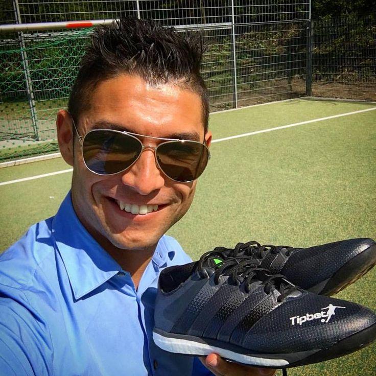 Saki with his new Tipbet Adidas Football Freestyle shoes
