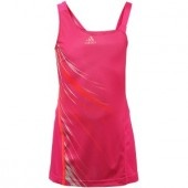 "Show off a bold style on court in this G adizero Dress. It features an asymmetrical neckline, mesh inset on back, sublimated graphic on front, and a printed adidas logo on chest. 23"" length from shoulder to hem."