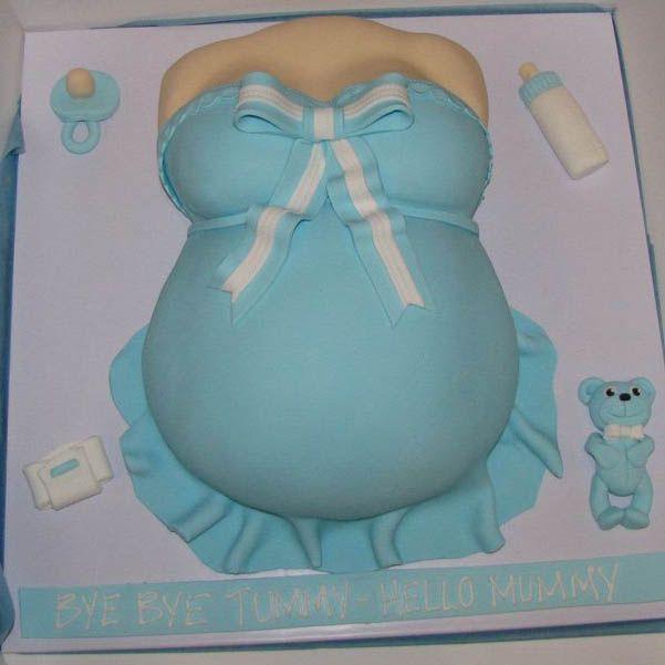 Silhoutte Baby Bump Cake