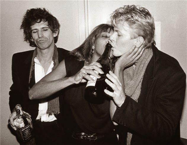 Keith Richards, Tina Turner  David Bowie NYC 1983