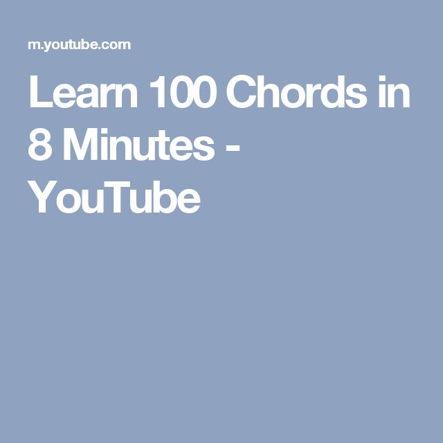 Learn 100 Chords in 8 Minutes - YouTube
