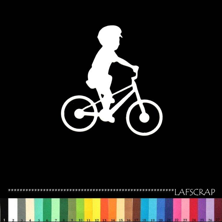 1 découpe scrapbooking scrap enfant personnage vélo bébé naissance découpe papier embellissement die cut création