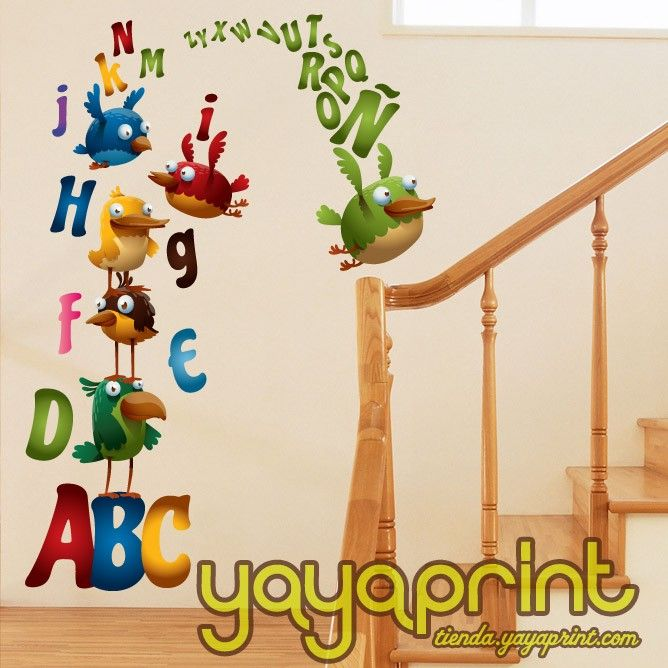 200 best images about vinilos pared decoraci n yayaprint for Stickers decorativos infantiles