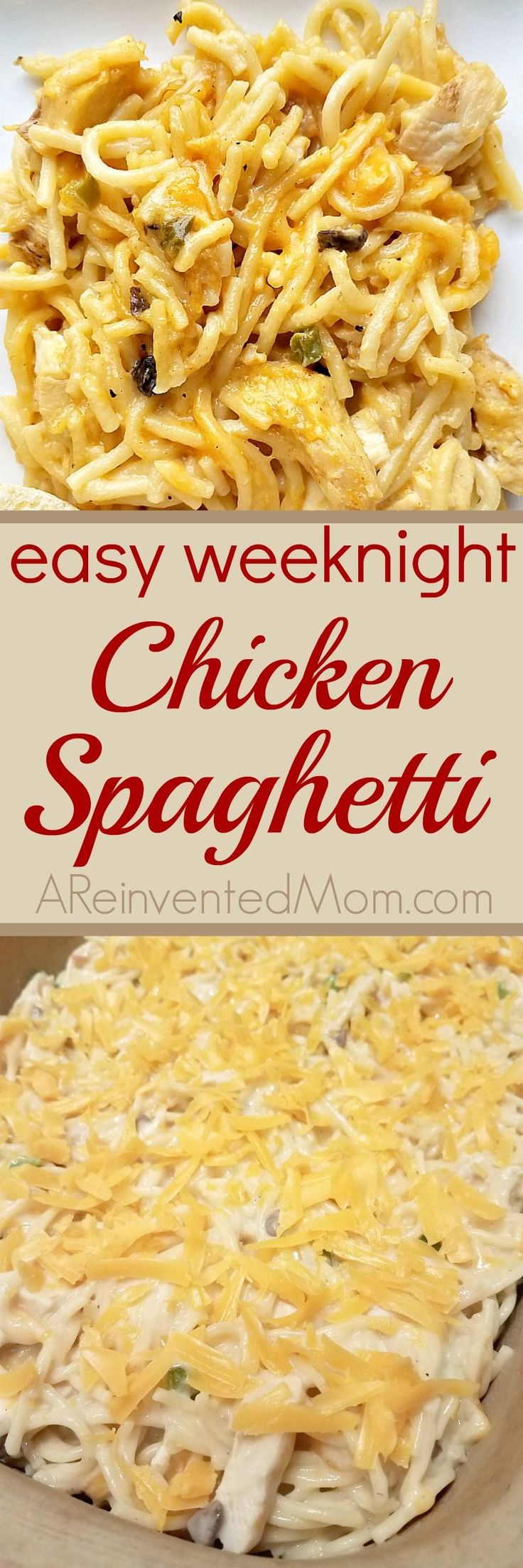 Best 25 shredded chicken recipes ideas on pinterest recipes comfort food simple enough for a week day easy weeknight chicken spaghetti a reinvented forumfinder Gallery