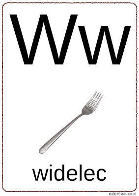 alfabet z obrazkami - litera w