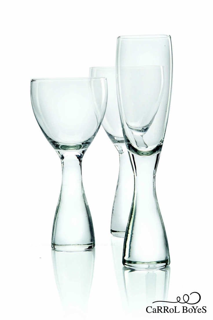 The beautiful glassware is solid and substantial and comes in three designs:  Luna, Wound Up and Pluto.