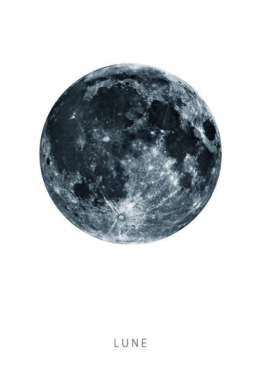 Poster mit Mond...