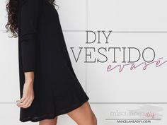 Blog en español son explicación paso a paso y fotos para hacer este lindo vestido y muchos estilos más. *** DIY sewing   Vestido con vuelo   Swing Dress