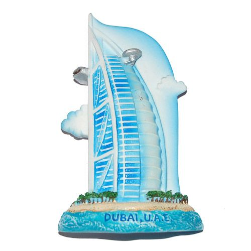 Resin Fridge Magnet: United Arab Emirates. Dubai. Burj al Arab