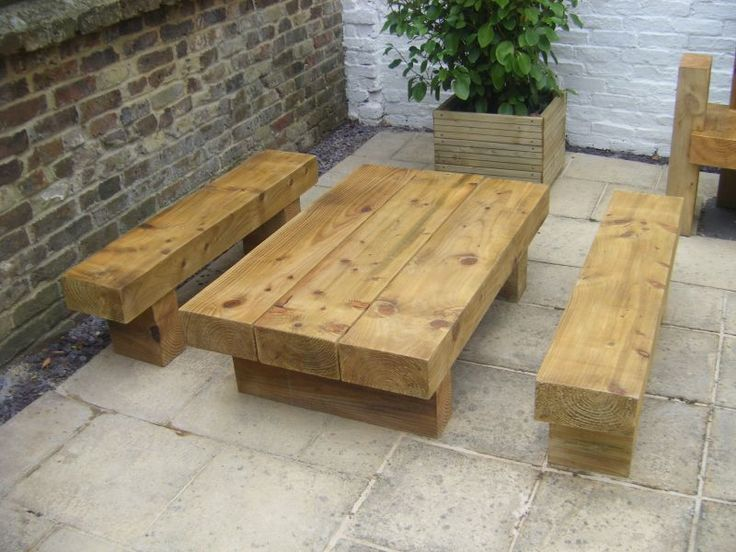 Roy's garden furniture from new railway sleepers