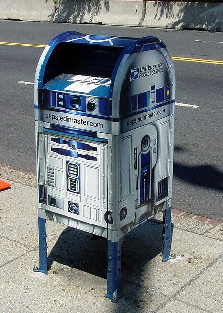 R2D2 carrying everyone's messages to the rebel alliance!