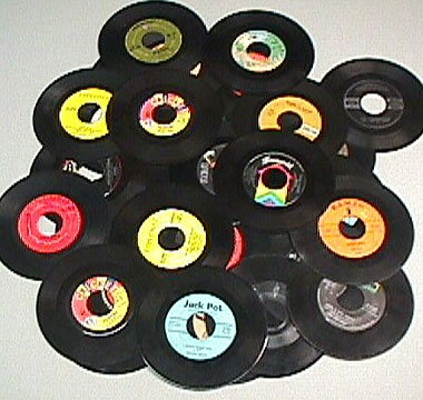 45 rpm records. I had nearly a thousand and all were kept in the original sleeves.