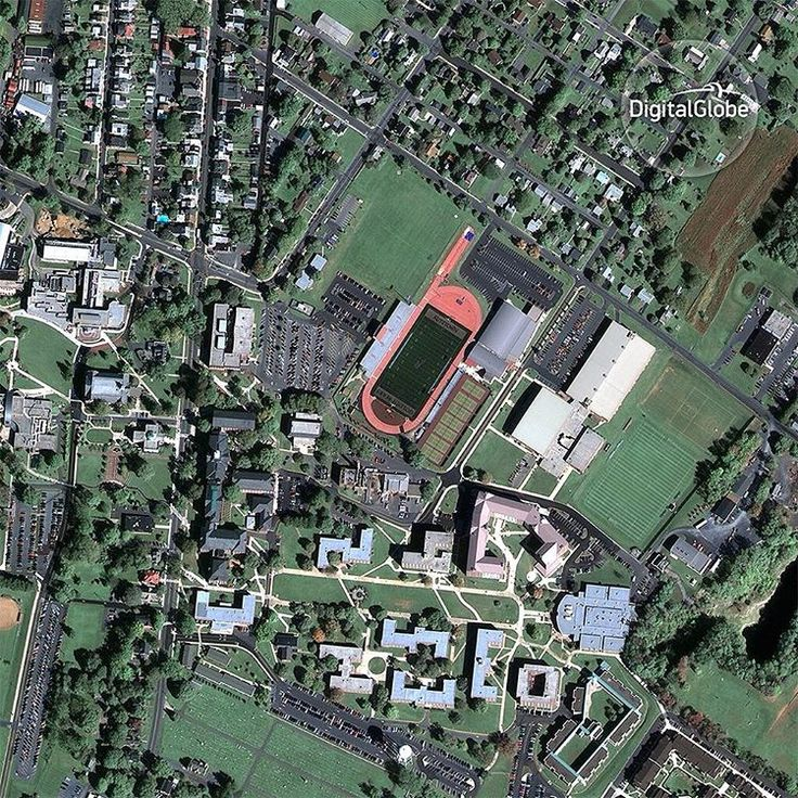 Our GeoEye-1 satellite was successfully launched on September 6, 2008 from Vandenberg Air Force Base aboard a Delta II launch vehicle. This October 7, 2008 image of Kutztown, Pennsylvania was one of the first images released from GeoEye-1. GeoEye-1's 41-centimeter resolution is so clear you can see the lines in University Field at Kutztown University of Pennsylvania. #firstimages #history #satelliteimage #satelliteimagery #geoeye1 #kutztown #pennsylvania #digitalglobe #vantagepoint