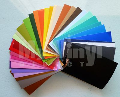 myvinyldirect.com matte vinyl color samples deck with 36 colors. Perfect to have on hand for planning your vinyl craft projects.