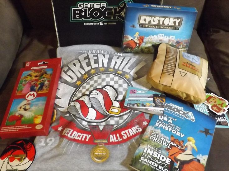February's E for Everyone Gamer Block unboxed by Haylee! Super Mario, Sonic the Hedgehog, 007 & more video game collectibles. Read her review to see the box and grab a 15% off coupon code! http://www.findsubscriptionboxes.com/a-closer-look/february-2017-gamer-block-review/?utm_campaign=coschedule&utm_source=pinterest&utm_medium=Find%20Subscription%20Boxes&utm_content=February%202017%20Gamer%20Block%20Review%20-%20E%20for%20Everyone%20%2B%20Coupon  #GamerBlock