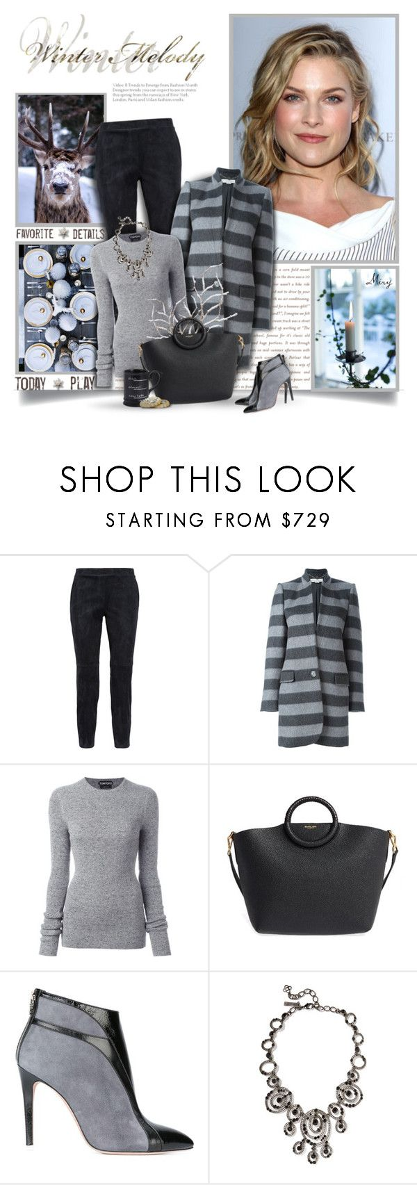 """""""Keep Yourself Warm"""" by thewondersoffashion ❤ liked on Polyvore featuring Theory, STELLA McCARTNEY, Tom Ford, Michael Kors, Francesca Mambrini, Oscar de la Renta and Pier 1 Imports"""