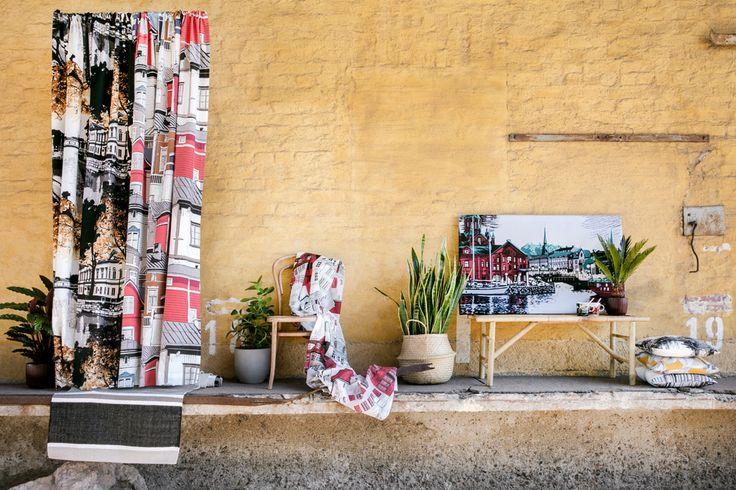Vallila AW17 collection: Aurajoki, Pitäjä, Kobenhavn and Kanavaranta curtains