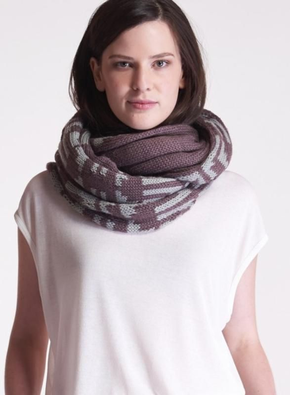 Group Gifts from Splitzee | Infinity Maze Pattern Knit Scarf $144 #gift #ideas for #mom #mothers