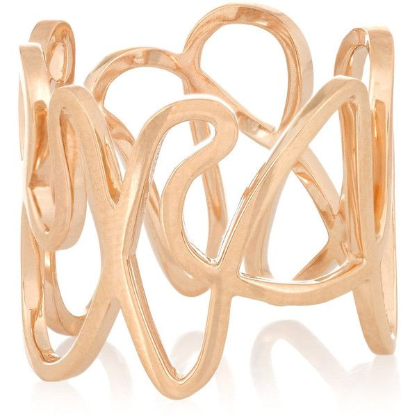 Repossi White Noise 18-karat rose gold ring ($3,980) ❤ liked on Polyvore featuring jewelry, rings, gold, red gold jewelry, white gold rose ring, pink gold jewelry, 18k rose gold ring and 18 karat gold ring