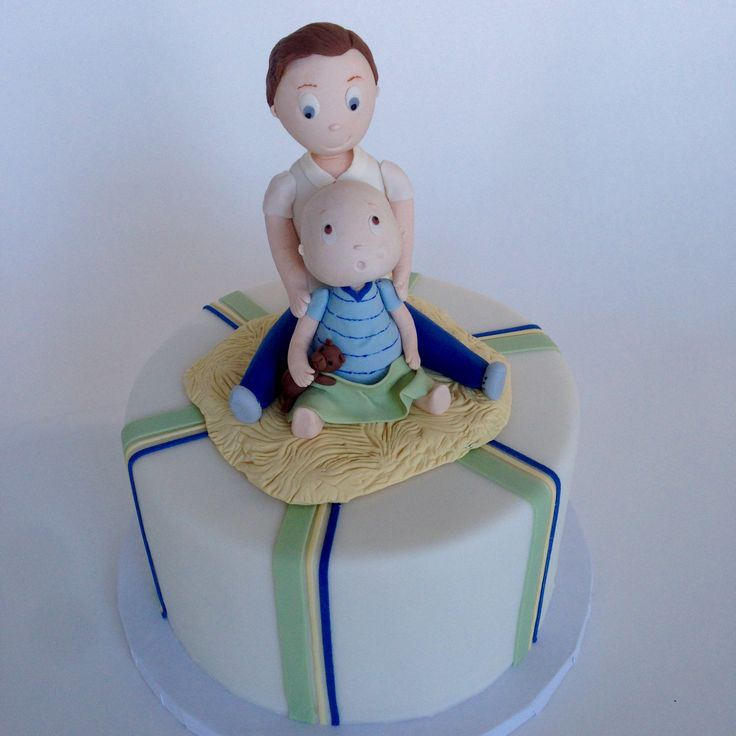Daddy & Me-- A Birthday Cake For A Father And His Young