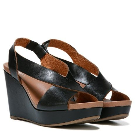 Dr. Scholl's Shoes || Meanit Wedge Sandal in Black