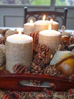 Nice things!: Candle decoration ideas! - Ιδέες διακόσμησης με κεριά!